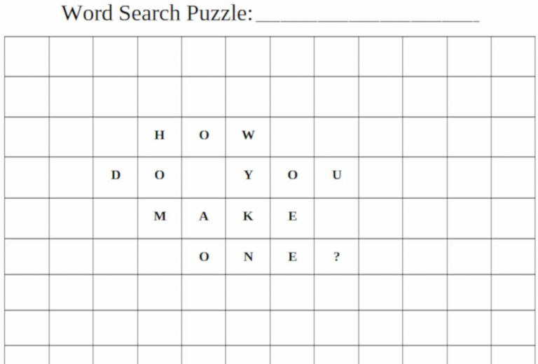 How To Make A Word Search (Word, Excel, Google Doc & Photoshop Templates Included)
